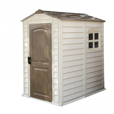 Duramax 'Woodside' PVC Clad Shed 4ft x 5ft 5