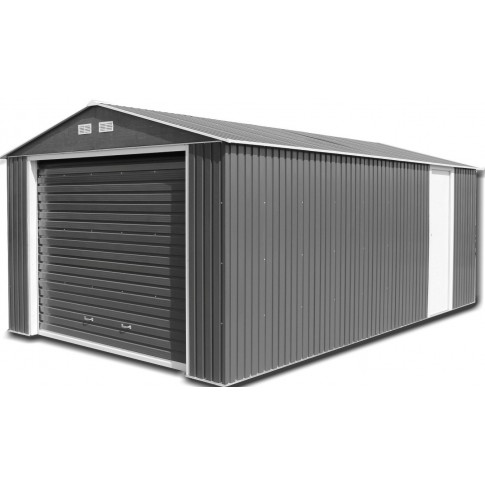 Olympian 12ft wide Metal Garage - Anthracite Grey