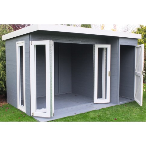 Shire Aster Summerhouse with Side Store - 3.6 x 2.4m (12 x 8ft)
