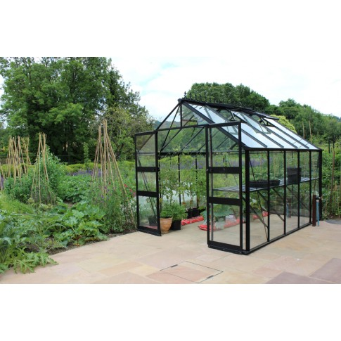 Eden Bourton 10ft wide Greenhouse Black