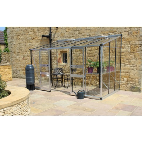 Eden Broadway lean to 8ft wide Greenhouse Aluminium