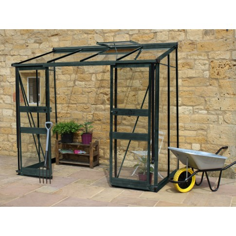 Eden Broadway lean to 12ft wide Greenhouse Green