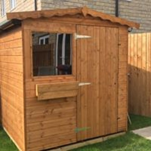 Heavy Duty Low Apex Shed - The Dart