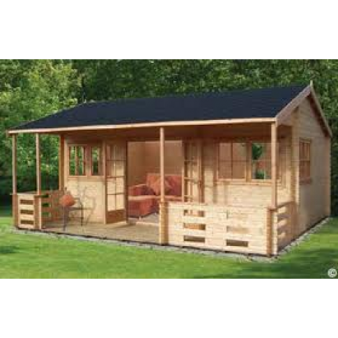 Shire Kingswood Pine Lodge 70mm - 18 x 20ft
