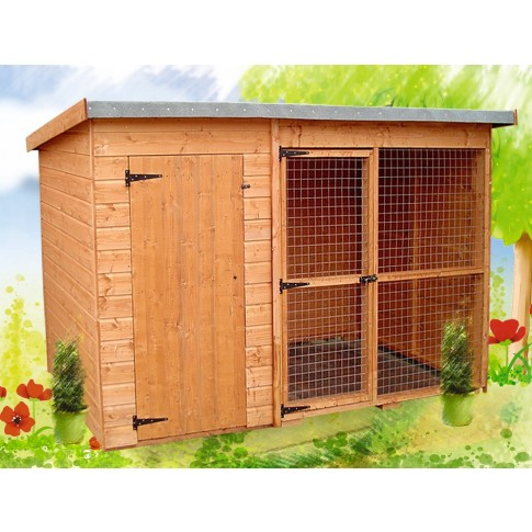 Albany Laughton Kennel & run 10 x 4ft