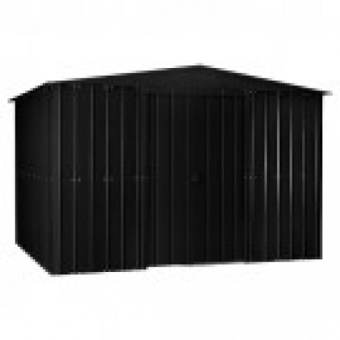 Lotus Anthracite Grey Steel Shed (10ft wide)