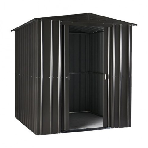 Lotus Steel Shed (6ft wide)- Anthracite Grey