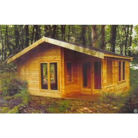 Shire New Forest Pine Lodge 70mm - 20 x 13ft