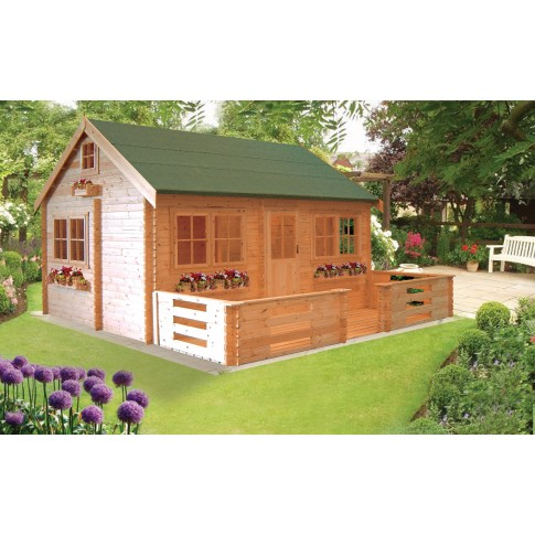 Shire Pemberey Pine Lodge 34mm - 18 x 13ft