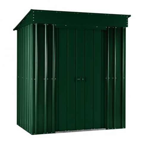 Lotus Pent Steel Shed (5ft x 3ft) - Heritage Green