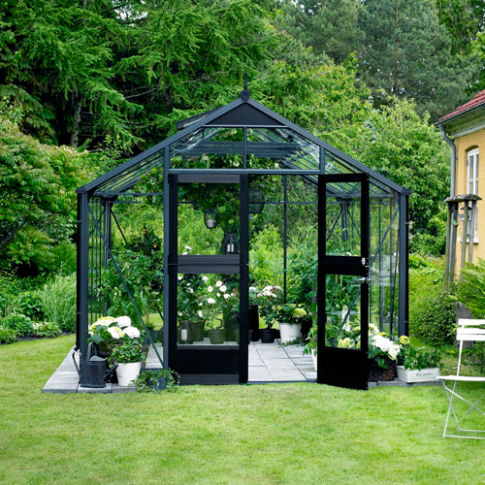 Juliana Gardner Greenhouse Anthracite Grey/Black 12ft wide