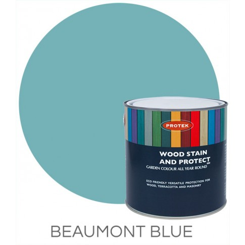 Protek Wood Stain & Protector - Beaumont Blue (1 litre)