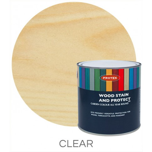 Protek Wood Stain & Protector - Clear Top Coat (1 litre)