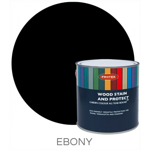 Protek Wood Stain & Protector - Ebony (1 litre)