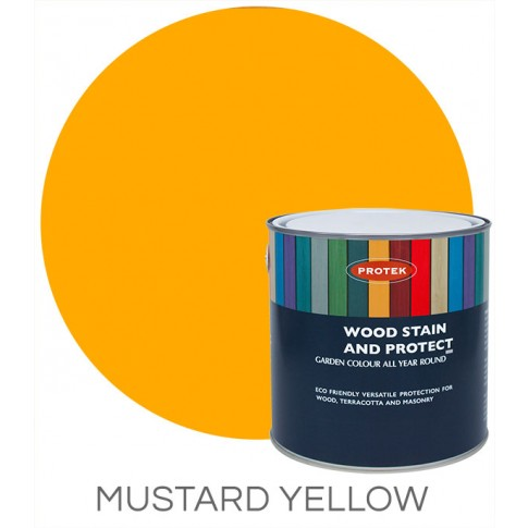 Protek Wood Stain & Protector - Mustard Yellow (1 litre)