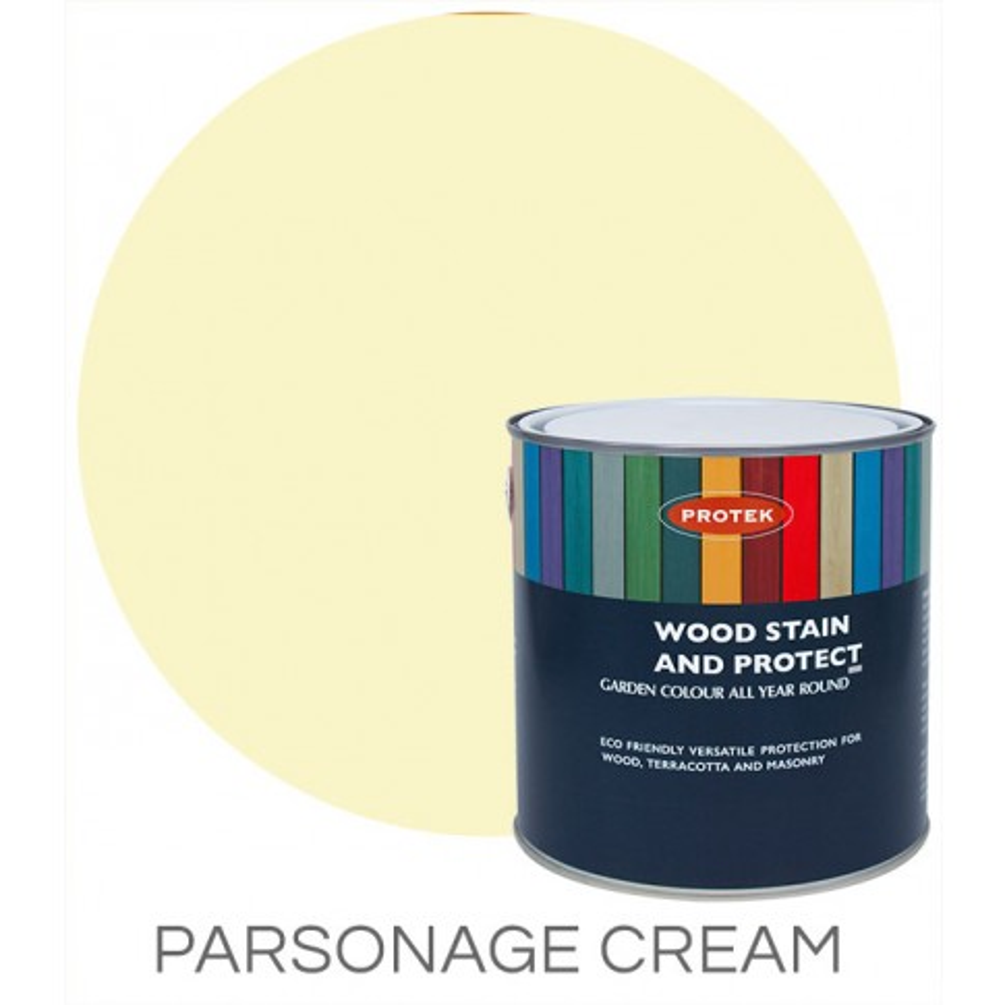 Protek Wood Stain & Protector - Parsonage Cream (1 litre)