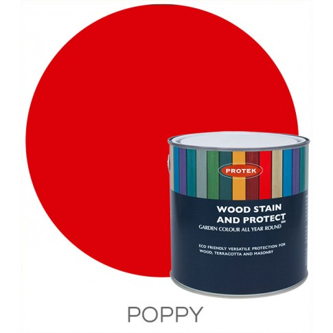 Protek Wood Stain & Protector - Poppy (1 litre)