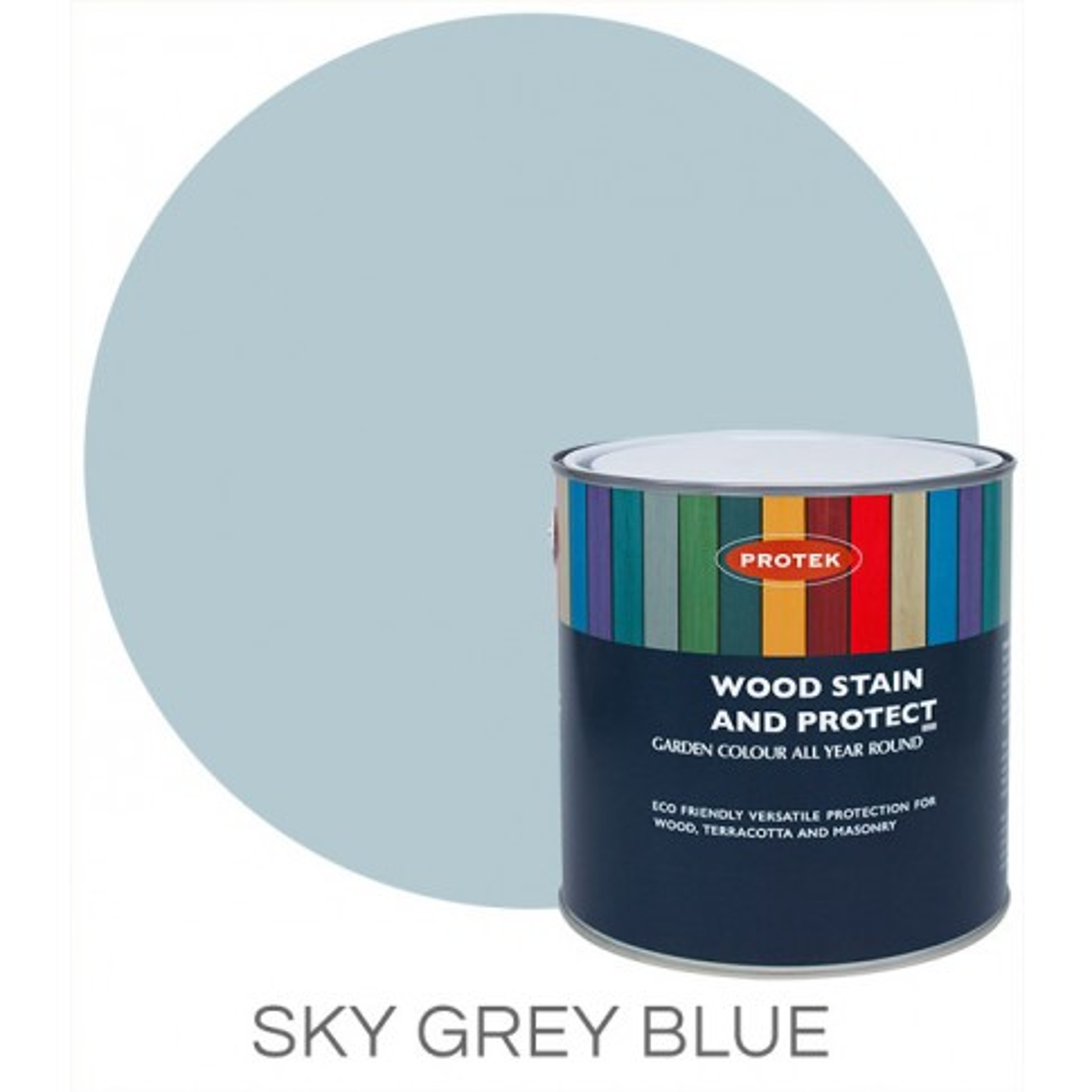 Protek Wood Stain & Protector - Sky Grey Blue (1 litre)