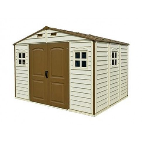 Duramax 'Woodside' PVC Clad Shed 10ft x 8ft