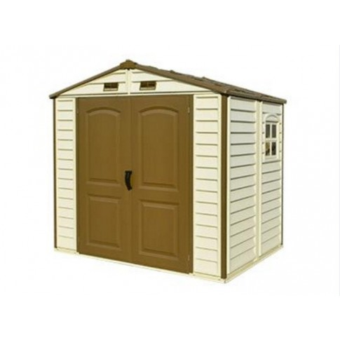 Duramax 'Woodside' PVC Clad Shed 8ft x 5ft 3