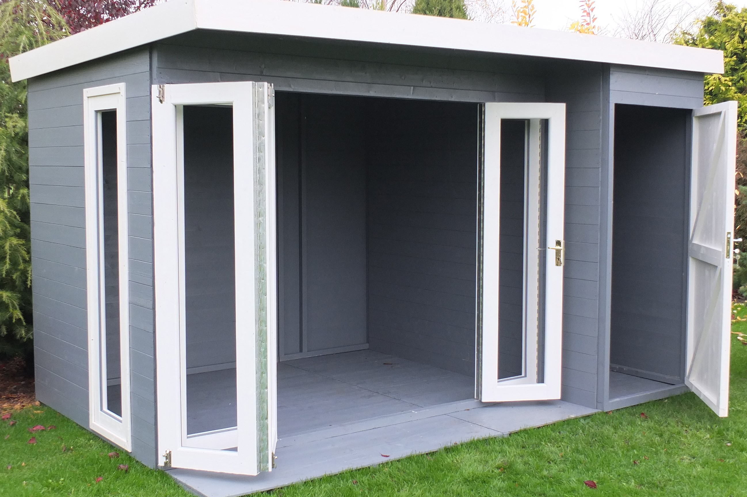 Shire Aster Summerhouse With Side Store 3 6x2 4m Map