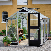 Juliana Compact Greenhouse Aluminium/Black 7ft wide