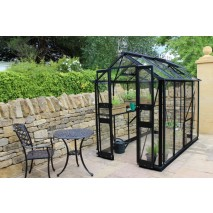 Eden Birdlip  4ft wide Greenhouse Black