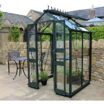 Eden Birdlip  4ft wide Greenhouse Green