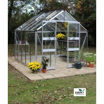 Eden Blockley  8ft wide Greenhouse Aluminium