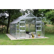 Eden Bourton  10ft wide Greenhouse Aluminium