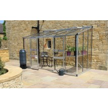 Eden Broadway lean to 12ft wide Greenhouse Aluminium