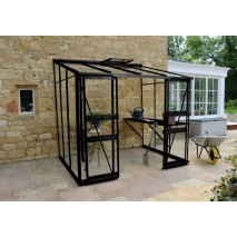 Eden Broadway lean to 12ft wide Greenhouse Black