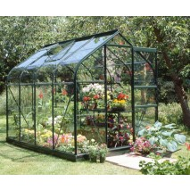 Halls Supreme Greenhouse (6 Sizes) - Green Finish