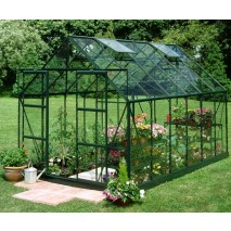 Halls 8' wide Double Door Magnum Greenhouse (3 Sizes) - Green