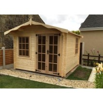 Albany Charnwood Log Cabin 34mm - Style C (7 Sizes)