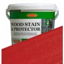 Protek Wood Stain & Protector - Fire Engine Red (1 litre)
