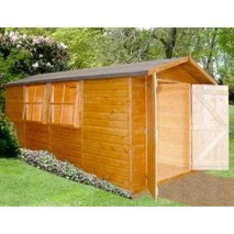 Shire Jersey Apex Double Door Storage Shed 13 x 7ft