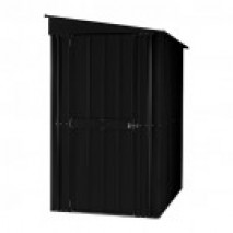Lotus Lean To Steel Shed (4ft wide) Anthracite Grey
