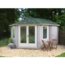 Shire Leygrove & Rowney Log Cabin 28mm