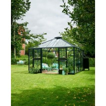 Juliana Oasis Greenhouse Aluminium/Black 12 x 12ft