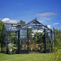 Juliana Orangery Greenhouse Anthracite Grey/Black 14 x 9ft