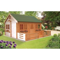 Shire Pemberey Pine Lodge 44mm - 18 x 13ft