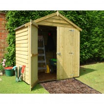 Shire Overlap Double Doors No Windows 4 x 6ft