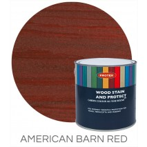 Protek Wood Stain & Protector - American Barn Red (1 litre)