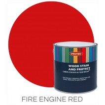Protek Wood Stain & Protector - Fire Engine Red (5 litre)