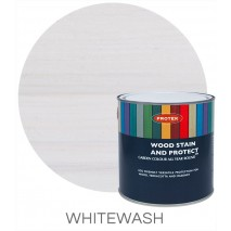 Protek Wood Stain & Protector - Whitewash (5 litre)