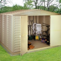 Duramax 'Woodbridge' PVC Clad Shed (3 Sizes)