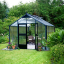 Juliana Premium Greenhouse Aluminium/Black 9ft wide